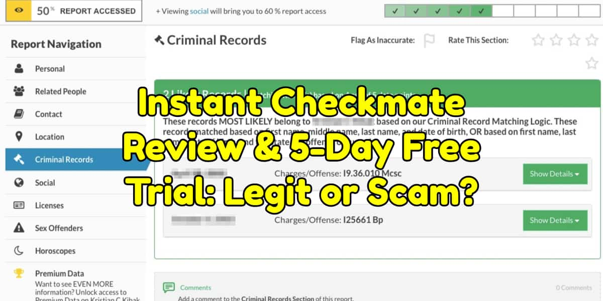 Instant Checkmate Cost >> Instant Checkmate Review 5 Day Free Trial Legit Or Scam 2019 Upd