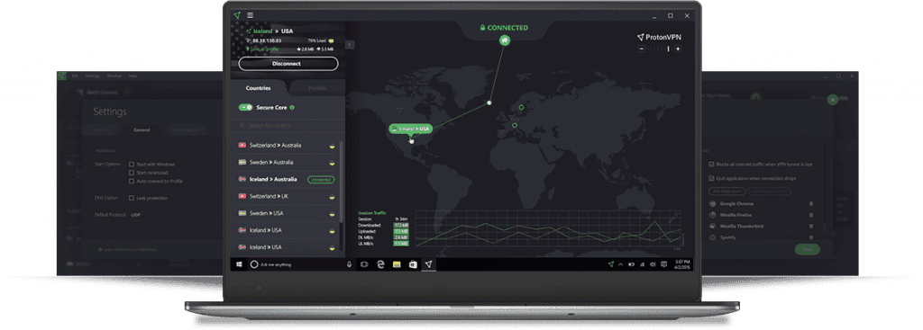protonvpn on computer