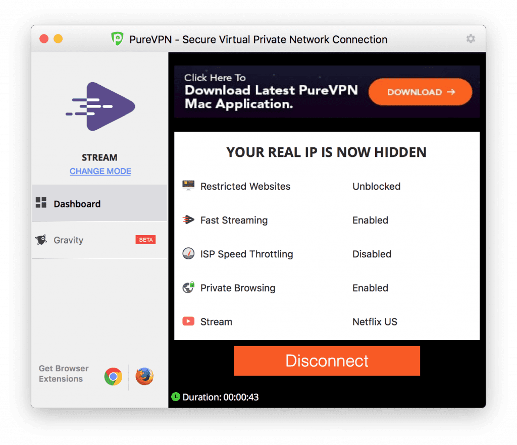 purevpn secure connection